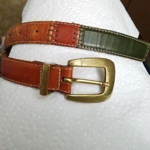 Fossil Multi Color Leather Belt